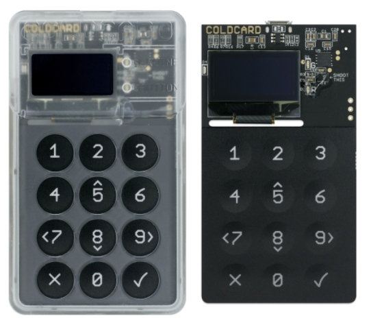 Coldcard bitcoin hardware wallet